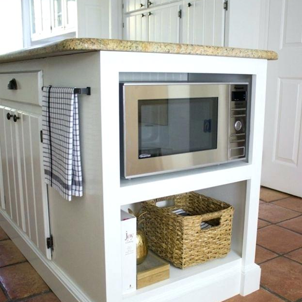 microondas escondido en cocina moderna Valladolid