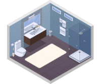 icono de reformas en baños