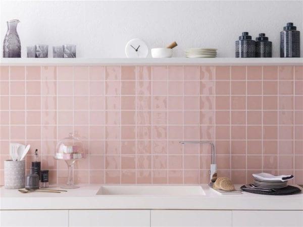 azulejos para cocina en rosa en Valladolid Olid Urbión